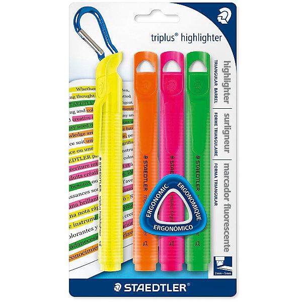 Staedtler Текстовыделитель Triplus highlighter, 2-5 мм, 4 цв тарелка семейный завтрак у пирата 22 5 19 4 2 2 см цв уп 1018899