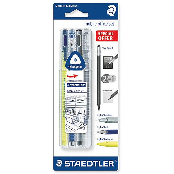 Staedtler Набор пишуших пренадлежнастей Triplus Mobil, 4 предмета staedtler 34sb4 офисный письменный перо перо набор комбинирования 4 вида ручки