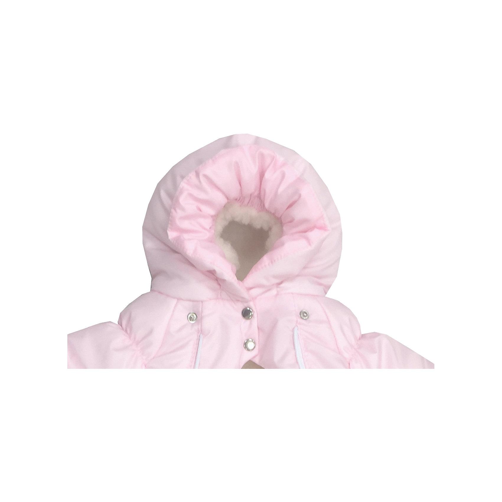 Конверт-комбинезон с ручками Зайчики, овчина, СуперМаМкет, розовый