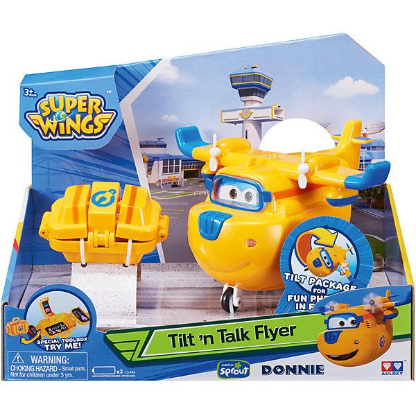 Донни с чемоданчиком, свет, звукФигурки из мультфильмов<br>Играть с самолетами любит практически каждый мальчишка. Сделать игру ярче и увлекательнее поможет Самолет Донни. Это герой популярного мультфильма, любимого детьми. К нему прилагается чемоданчик, который дополнен инструментами для увлекательной сюжетной игры. Игрушка за несколько мгновений трансформируется из самолета в робота, он может говорить фразы из мультфильма. Оснащен световыми эффектами.                     <br>Этот набор обязательно порадует ребенка! Игры с ним также помогают детям развивать воображение, логику, мелкую моторику и творческое мышление. Набор сделан из качественных и безопасных для ребенка материалов.<br><br>Дополнительная информация:<br><br>цвет: разноцветный;<br>размер упаковки: 29 х 15.3 х 16.5 см;<br>вес: 400 г;<br>батарейки: 3хAАА;  <br>материал: пластик;<br>комплектация: самолет, инструменты.<br><br>Донни с чемоданчиком, свет, звук можно купить в нашем магазине.<br>Ширина мм: 235; Глубина мм: 145; Высота мм: 180; Вес г: 400; Возраст от месяцев: 36; Возраст до месяцев: 2147483647; Пол: Мужской; Возраст: Детский; SKU: 4918767;