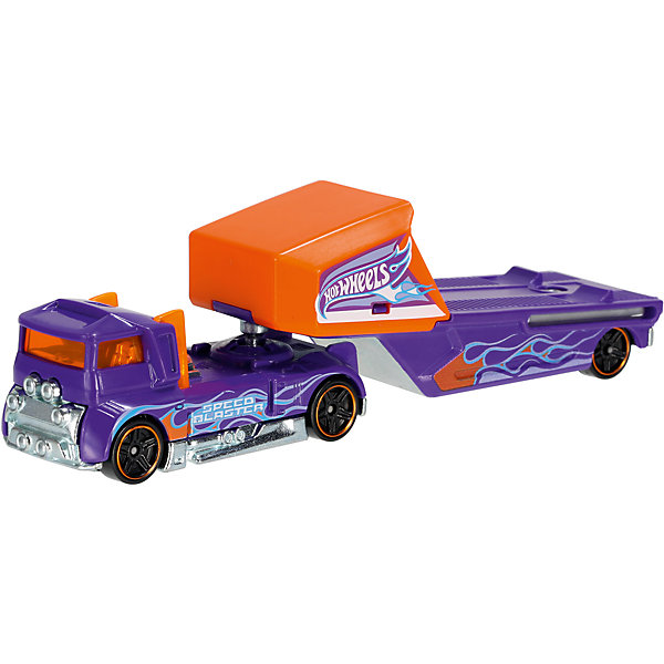 Mattel Базовый трейлер Hot Wheels, Speed Blaster hot wheels track stars трейлер aero blast