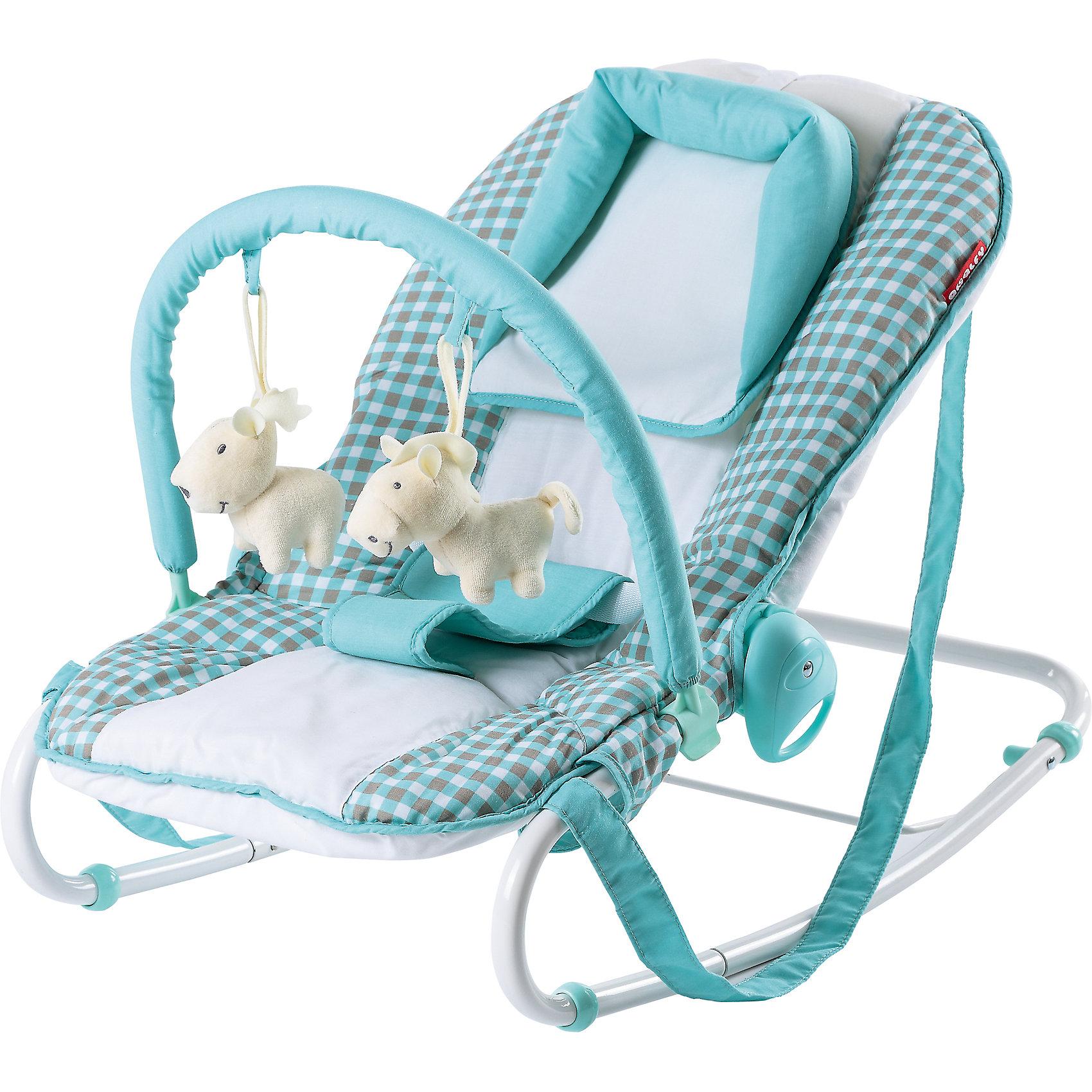 Шезлонг Amalfy НB-8023 Т, Happy Baby, aqva