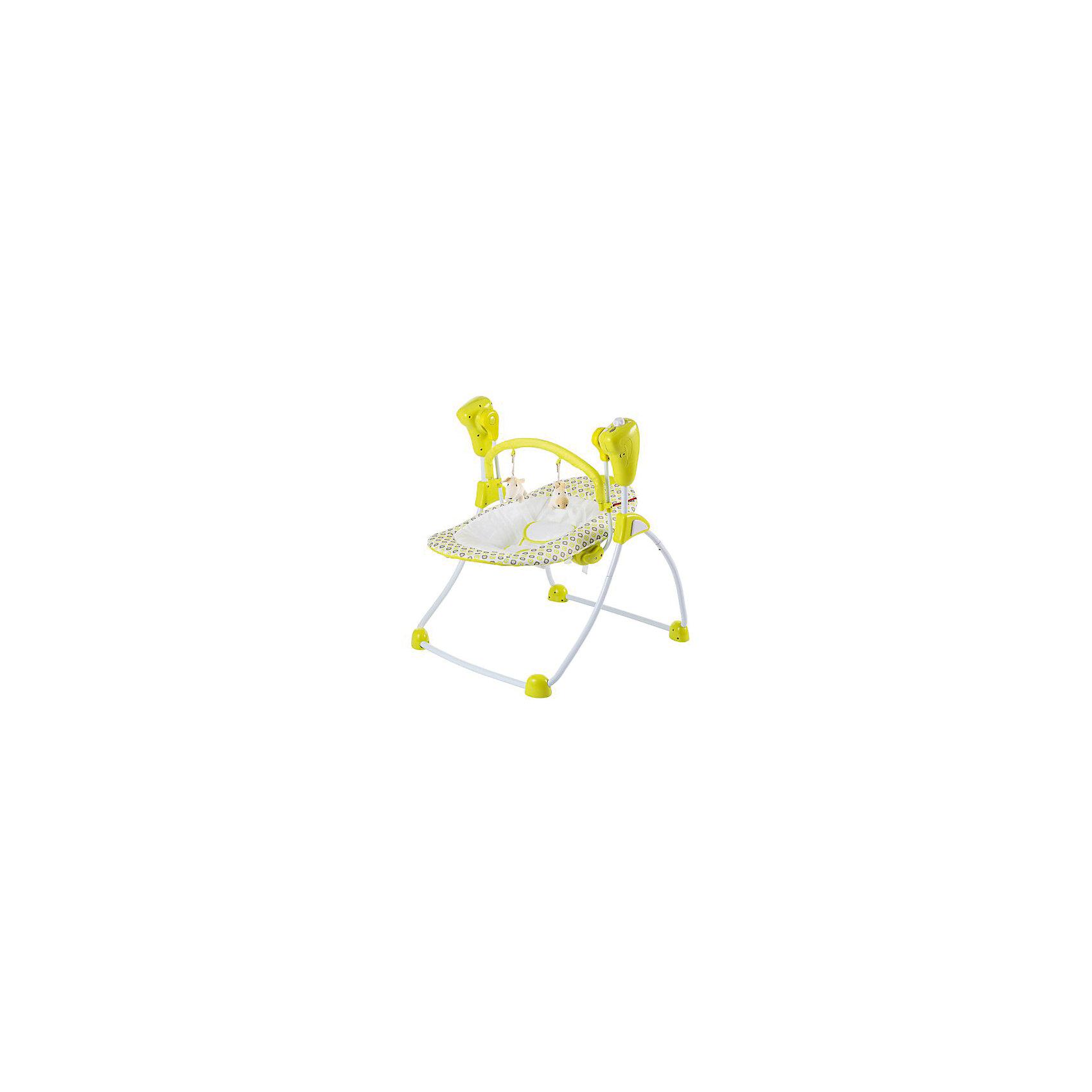 Кресло-качели GB-001 Amalfy, Happy Baby, Lime