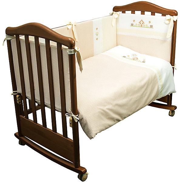 Сонный гномик Комплект в кроватку 6 предметов Сонный гномик, Кантри, бежевый