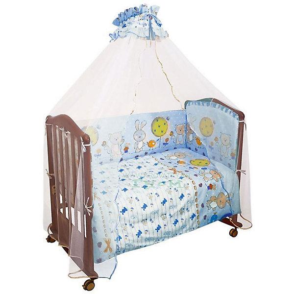 Сонный гномик Комплект в кроватку 7 предметов Сонный гномик, Акварель, голубой leader kids постельное белье собачки 7 пред leader kids бязь розовый