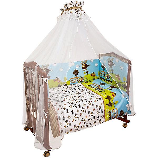 Сонный гномик Комплект в кроватку 7 предметов Сонный гномик, Каникулы, голубой leader kids постельное белье собачки 7 пред leader kids бязь розовый
