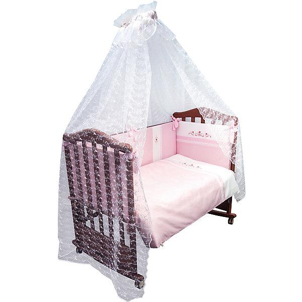 Купить со скидкой Комплект в кроватку 7 предметов Сонный гномик, Прованс, розовый