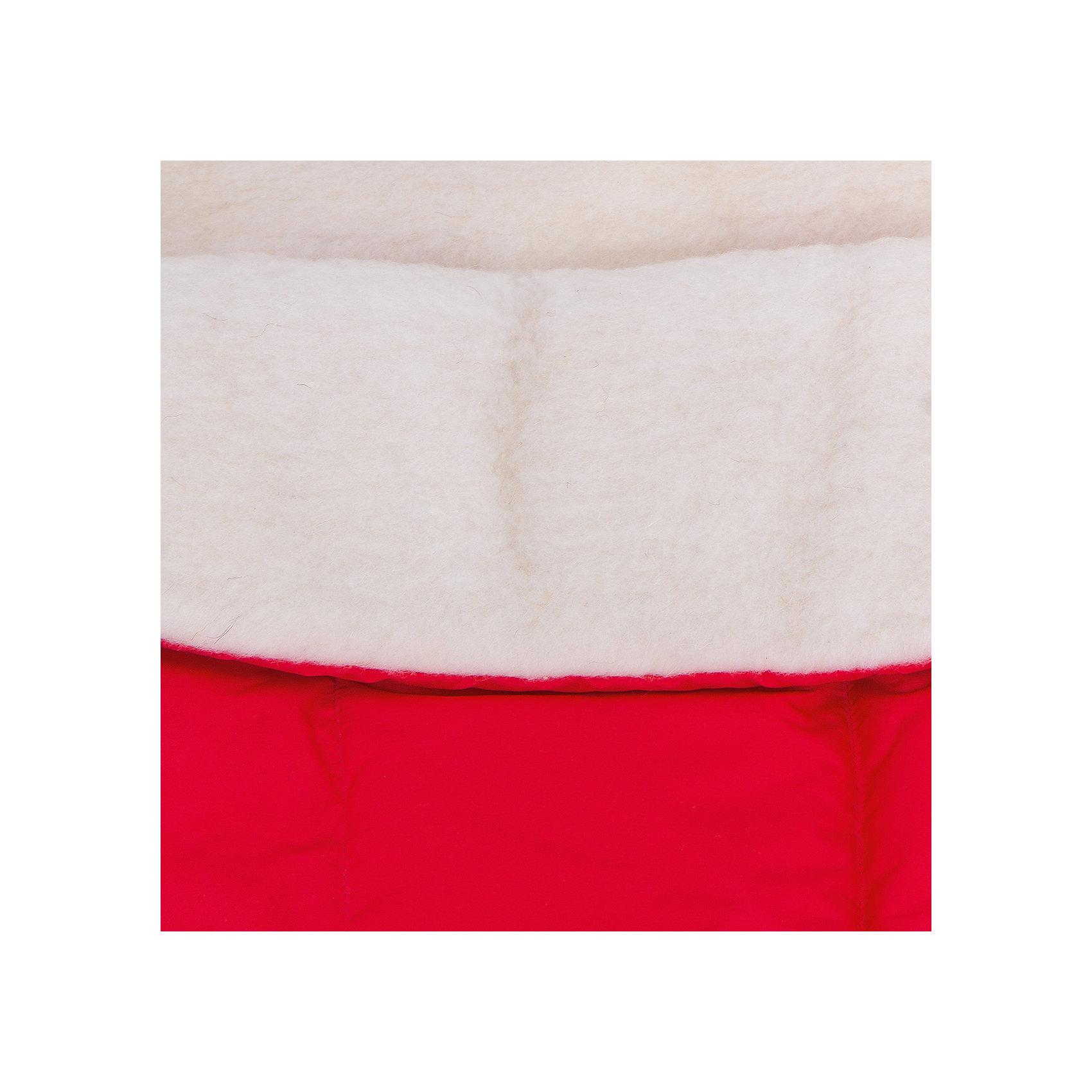 Конверт в коляску Норд, Сонный гномик, красный