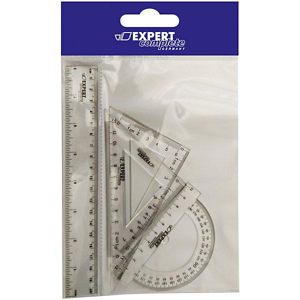 Набор линеек, 4 предметаЧертежные наборы<br>624001 Набор линеек, 4 предмета, Expert Complete, ОРР<br>Набор включает четыре предмета: линейку шкалой 20 см, 2 треугольника, транспортир. Предназначен для чертёжных работ.<br><br>Дополнительная информация:<br><br>- В наборе: линейка 20 см, транспортир, 2 треугольника<br>- Размер упаковки: 26,5х15,9 см.<br><br>624001 Набор линеек, 4 предмета, Expert Complete, ОРР можно купить в нашем интернет-магазине.<br>Ширина мм: 265; Глубина мм: 1; Высота мм: 159; Вес г: 33; Возраст от месяцев: 84; Возраст до месяцев: 180; Пол: Унисекс; Возраст: Детский; SKU: 4923462;