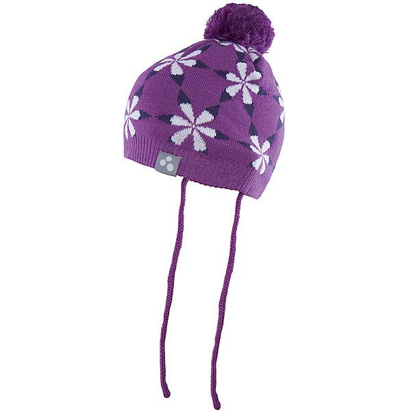 Шапка Huppa Eli для девочкиШапочки<br>Характеристики товара:<br><br>• модель: Eli;<br>• цвет: фиолетовый;<br>• состав: 50% шерсть мериноса, 50% акрил; <br>• подкладка: 100% хлопок:<br>• температурный режим: от 0°С до -20°С;<br>• особенности: вязаная, с помпоном;<br>• шапка на завязках;<br>• декорирована цветочным орнаментом;<br>• страна бренда: Эстония;<br>• страна изготовитель: Эстония.<br><br>Вязаная шапка Eli Huppa (Хуппа) изготовлена из материалов, которые отлично сохраняют тепло. Подкладка из хлопка приятна телу и не вызывает раздражения на коже. Шапка украшена цветочным орнаментом и помпоном. Есть светоотражающие элементы.<br><br>Шапку Eli от бренда Huppa (Хуппа) можно купить в нашем интернет-магазине.<br>Ширина мм: 89; Глубина мм: 117; Высота мм: 44; Вес г: 155; Цвет: лиловый; Возраст от месяцев: 9; Возраст до месяцев: 12; Пол: Женский; Возраст: Детский; Размер: 43-45,51-53,47-49; SKU: 4923854;