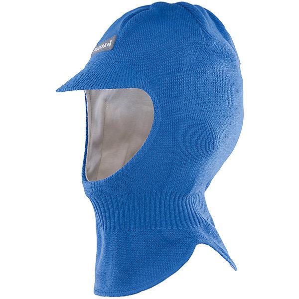 Шапка-шлем Huppa SindreГоловные уборы<br>Характеристики товара:<br><br>• модель: Sindre;<br>• цвет: голубой;<br>• состав: 100% акрил;<br>• подкладка: 100% хлопок;<br>• сезон: зима;<br>• температурный режим: от +5 до - 30С;<br>• защитный козырек;<br>• особенности: вязаная, шапка с козырьком;<br>• страна бренда: Финляндия;<br>• страна изготовитель: Эстония.<br><br>Шапка-шлем Хуппа с защитным козырьком. Подкладка выполнена из хлопкового трикотажа, наружная ткань - это 100% акриловой пряжи. Шапка-шлем идеальна для ношения в зимние холода, потому что защищает шею и уши ребенка от холодного ветра.<br><br>Шапку-шлем Huppa Sindre (Хуппа) можно купить в нашем интернет-магазине.<br>Ширина мм: 89; Глубина мм: 117; Высота мм: 44; Вес г: 155; Цвет: синий; Возраст от месяцев: 84; Возраст до месяцев: 120; Пол: Мужской; Возраст: Детский; Размер: 55-57,47-49,51-53; SKU: 4923898;