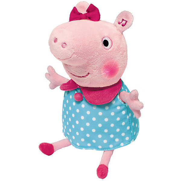 Росмэн Интерактивная мягкая игрушка Свинка Пеппа Пеппа, 30 см росмэн мягкая игрушка пеппа с виноградом 20 см свинка пеппа