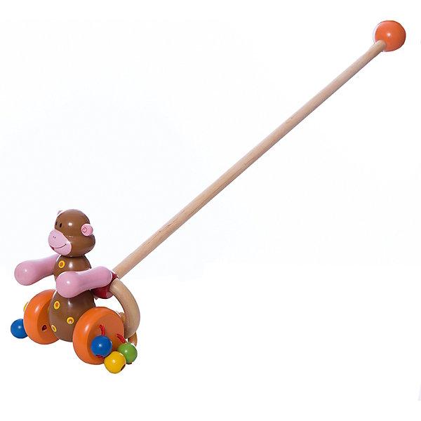 Каталка Мартышка с колечком, MapachaДеревянные игрушки<br>Каталка Мартышка с колечком от популярного бренда развивающих детских товаров Mapacha (Мапача) развлечет вашу кроху! Эта яркая обезьянка привлечет внимание и с ней захочется ходить и бегать снова и снова. Ручки обезьянки двигаются при движении и создают звуки, яркие шарики на колесиках добавляют шума. Безопасная съемная ручка длиной 48 см. позволит играть с игрушкой без ручки при желании. Каталка изготовлена из экологически чистого и натурального материала – дерева. С этой каталкой малыш сможет развить навыки координации движения и навыки управления.<br><br>Дополнительная информация:<br><br>- В комплект входит: 1 каталка<br>- Материал: дерево<br>- Размер: 12 * 7 * 17,5 см<br><br>Каталку  Мартышка с колечком , Mapacha (Мапача) можно купить в нашем интернет-магазине.<br><br>Подробнее:<br>• Для детей в возрасте: от 3 лет<br>• Номер товара: 4925513<br>Страна производитель: Китай<br>Ширина мм: 150; Глубина мм: 50; Высота мм: 570; Вес г: 339; Возраст от месяцев: 12; Возраст до месяцев: 60; Пол: Унисекс; Возраст: Детский; SKU: 4925513;