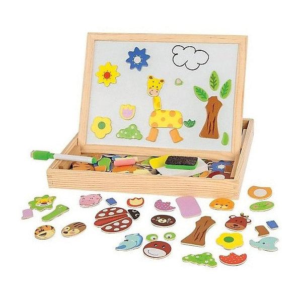 Чудо-чемоданчик Зоопарк, MapachaДоски и коврики для рисования<br>Чудо-чемоданчик Зоопарк от популярного бренда развивающих детских товаров Mapacha (Мапача) развлечет вашего ребенка. В чемоданчик входит доска с магнитно-маркерной стороной и меловой стороной. Теперь нет предела для творчества, рисовать можно сколько угодно и как угодно. В набор входят также магниты из которых можно собирать зверей, можно придумать своих выбирая из представленных частей, маркер для белой доски, мелки и губка. С этим набором можно придумать много интересных игр, таких как игра в зоопарк. Чемоданчик и рама доски изготовлены из дерева. С помощью этого чемоданчика малыш сможет развить логику, разработать моторику рук, внимание и воображение.<br><br>Дополнительная информация:<br><br>- В комплект входит: 1 чемоданчик, 1 доска<br>- Материал: дерево, пластик<br>- Размер: 36 * 66 *51 см<br><br>Чудо-чемоданчик  Зоопарк , Mapacha (Мапача) можно купить в нашем интернет-магазине.<br><br>Подробнее:<br>• Для детей в возрасте: от 3 до 6 лет<br>• Номер товара: 4925605<br>Страна производитель: Китай<br>Ширина мм: 305; Глубина мм: 35; Высота мм: 235; Вес г: 3090; Возраст от месяцев: 24; Возраст до месяцев: 72; Пол: Унисекс; Возраст: Детский; SKU: 4925605;