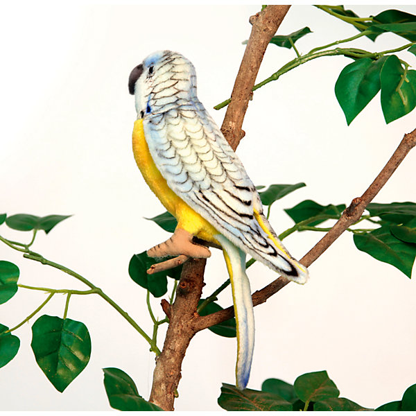 Hansa Мягкая игрушка Домашние питомцы Попугай волнистый голубой, 15 см