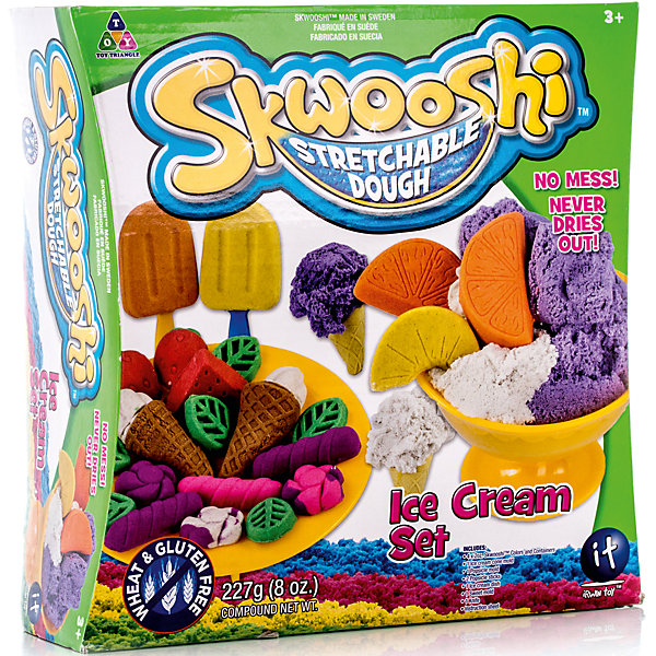 Skwooshi Набор для лепки с аксессуарами Мороженое