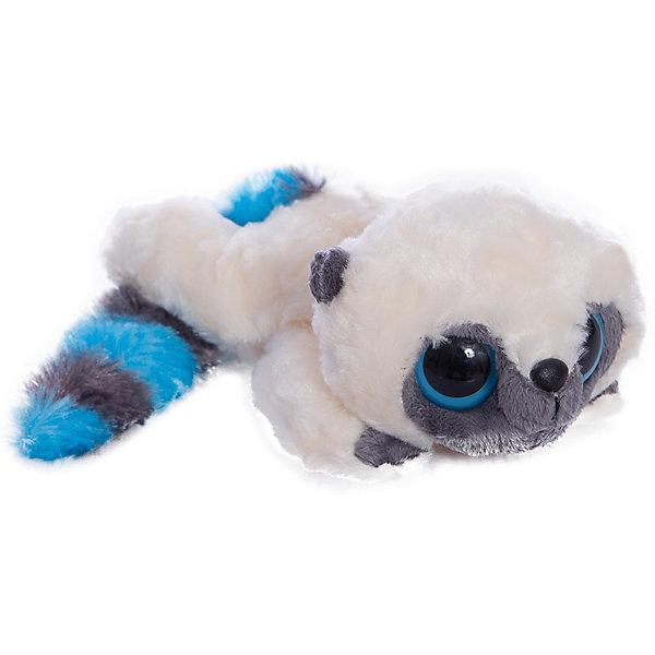 AURORA Мягкая игрушка Юху голубой лежачий, 16 см, Юху и друзья, AURORA цена