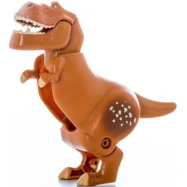 Яйцо-трансформер Бур,  Хороший динозавр, EggStarsТрансформеры-игрушки<br>Характеристики:<br><br>• тип игрушки: трансформер;<br>• возраст: от 3 лет;<br>• размер: 8х6х17 см;<br>• комплектация: 1 яйцо-трансформер;<br>• материал: пластик;<br>• упаковка: блистер;<br>• бренд: Bandai;<br>• страна производства: Китай.<br><br>Яйцо-трансформер «Бур. Хороший динозавр», EggStars - своеобразный тренажер, который прекрасно подойдет для развития навыков малыша. В собранном виде - это фигурка динозавра, но стоит сделать несколько простых манипуляций и перед ребенком окажется забавное яйцо! Так же просто ему будет придать и первоначальный вид.<br><br>При помощи этой веселой игрушки получится развить воображение, моторику рук и внимательность. Тираннозавр Бур - один из главных героев полнометражного мультфильма студии Pixar Хороший динозавр. В нем повествуется о том, что динозавры не вымерли, но смогли развиться в куда более умных существ, чем люди; последние же влачат жалкое существование глупых дикарей. Среди всего этого зарождается дружба между динозавром и детеныша человека. Бур - добрый тираннозавр, который встречается героям во время путешествия и помогает им.<br><br>Яйцо-трансформер «Бур. Хороший динозавр», EggStars можно купить в нашем интернет-магазине.<br>Ширина мм: 80; Глубина мм: 60; Высота мм: 170; Вес г: 67; Возраст от месяцев: 48; Возраст до месяцев: 144; Пол: Унисекс; Возраст: Детский; SKU: 4929050;