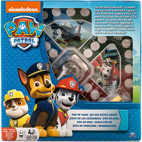 Купить Настольная игра с кубиком и фишками, Щенячий Патруль, Spin Master, Китай, Унисекс