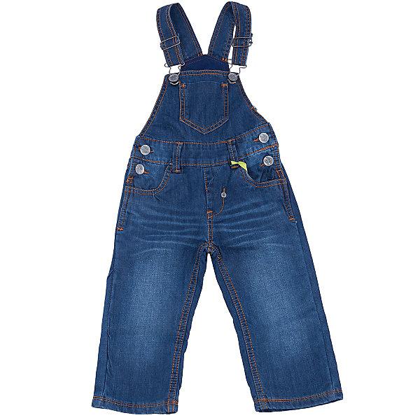 Комбинезон джинсовый для мальчика Sweet BerryДжинсы и брючки<br>Полукомбинезон джинсовый для мальчика торговой марки Sweet Berry выполнен из высококачественной хлопковой ткани. Такой полукомбинезон - прекрасный компаньон к футболкам и водолазкам, а если надеть его с яркой рубашкой, то можно получить красивый праздничный комплект. Полукомбинезон джинсовый для мальчика Sweet Berry - отличное дополнение гардероба Вашего модника! Изделие изготовлено из натурального хлопка,   мягкое и приятное на ощупь, не сковывает движения и позволяет коже дышать, не раздражает нежную кожу ребенка. Полукомбинезон с высокой грудкой имеет широкие бретели, регулируемые по длине. По бокам он застегивается на металлические пуговицы. Спереди полукомбинезон дополнен двумя втачными кармашками, а сзади - двумя накладными карманами. В таком полукомбинезоне Ваш ребенок будет чувствовать себя комфортно, уютно и всегда будет в центре внимания!<br><br> Дополнительная информация:<br><br>- комплектация: полукомбинезон<br>- цвет: темно-синий<br>- состав: хлопок 100%<br>- тип карманов: прорезные<br>- параметры брючин: ширина брючин - низ: 13 см; длина по внутреннему шву: 35 см<br>- длина изделия: по спинке: 55 см<br>- крой брючин: прямой<br>- вид застежки: замок с ключом<br>- утеплитель: флис<br>- фактура материала: гладкий<br>- уход за вещами: бережная стирка при t не более 40с<br>- рисунок: без рисунка<br>- назначение: повседневная<br>- сезон: демисезон<br>- пол: мальчики<br><br>Полукомбинезон  для мальчика торговой марки  Sweet Berry можно купить в нашем интернет-магазине<br>Ширина мм: 215; Глубина мм: 88; Высота мм: 191; Вес г: 336; Цвет: синий; Возраст от месяцев: 12; Возраст до месяцев: 15; Пол: Мужской; Возраст: Детский; Размер: 80,98,92,86; SKU: 4929852;