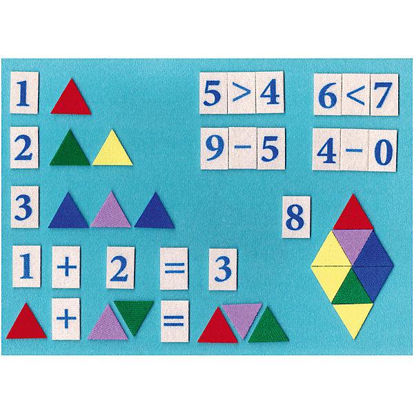 STIGIS Игра на липучках Математическая мозаика цветная, Stigis цена