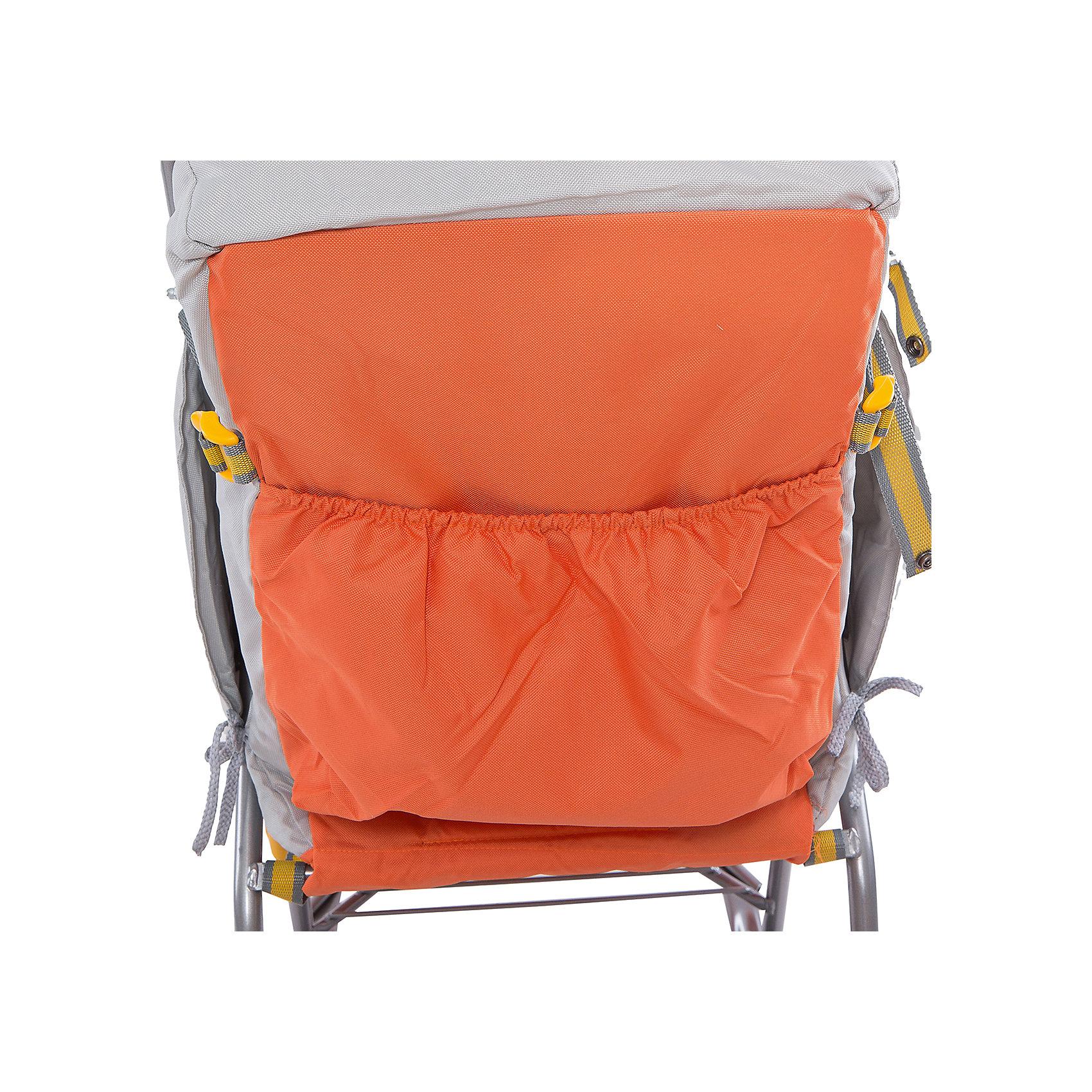 Санки-коляска Тимка 2 Универсальные, оранжевый (Ника)