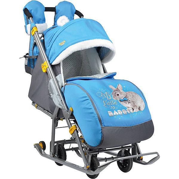 Nika-Kids Санки-коляска Ника детям 7-2, Rabbitt, василек санки коляска nika детям 7 2 нд7 2 собака pink