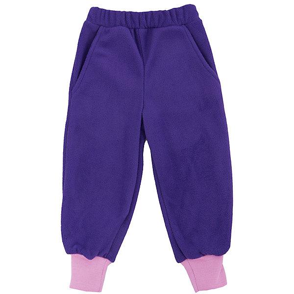 Штаны Чемпион для девочки ЛисФлисБрюки<br>Характеристики штанов для девочки: <br><br>- комплектация: штаны<br>- пол: для девочки<br>- цвет: розовый, фиолетовый<br>- тип карманов: накладные; прорезные<br>- вид застежки: без застежки; резинка<br>- крой брючин: прямой<br>- тип посадки: средняя посадка<br>- фактура материала: флис<br>- уход за вещами: предварительная стирка<br>- рисунок: без рисунка<br>- плотность: синтетического утеплителя<br>- утеплитель: без утепления<br>- назначение: повседневная<br>- характеристика пух/перо: fill power<br>- сезон: круглогодичный<br>- страна бренда: Россия<br>- страна производитель: Россия<br><br>Штаны Чемпион для девочек торговой марки ЛисФлис являются постоянным хитом продаж благодаря идеальному соотношению цены и качества. Штаны выполнены из плотного флиса (280 г.) с манжетами на штанинах и резинкой сверху. Будут незаменимы в холодную погоду как поддева  под комбинезон или комплект или как самостоятельный вариант в более теплое время года.<br><br>Штаны для девочки торговой марки ЛисФлис  можно купить в нашем интернет-магазине.