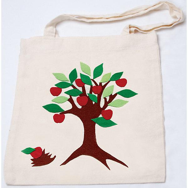 STIGIS Стигис-аппликация на эко-сумке Яблоня сумки для детей nici сумка сурикат девочка 19х24х7 см