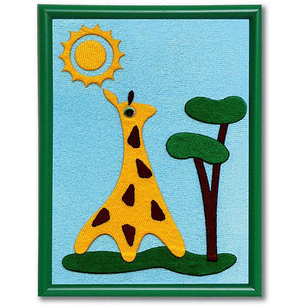 Стигис-аппликация для малышей ЖирафикАппликации из бумаги<br>Стигис-аппликация Жирафик - прекрасный вариант для детского творчества. Прекрасно развивает усидчивость, внимание и творческое мышление. Для создания привлекательной картины ребенку нужно только выложить готовые детали ткани на основу из картона, обтянутого тканью. С помощью мамы аппликацию следует прогладить утюгом - очаровательный жирафик готов! В набор входит рамочка для картины 20х15 см. Теперь красивой поделкой можно украсить детскую комнату или просто оставить в подарок друзьям!<br><br>Дополнительная информация:<br>В комплекте: рамочка, основа из картона, готовые детали из stigis ткани, объемные пластиковые глаза<br>Размер: 1,5х17х23 см<br>Вес: 130 грамм<br>Набор для стигис-аппликации Жирафик вы можете приобрести в нашем интернет-магазине.<br>Ширина мм: 230; Глубина мм: 170; Высота мм: 15; Вес г: 130; Возраст от месяцев: 24; Возраст до месяцев: 60; Пол: Унисекс; Возраст: Детский; SKU: 4939435;