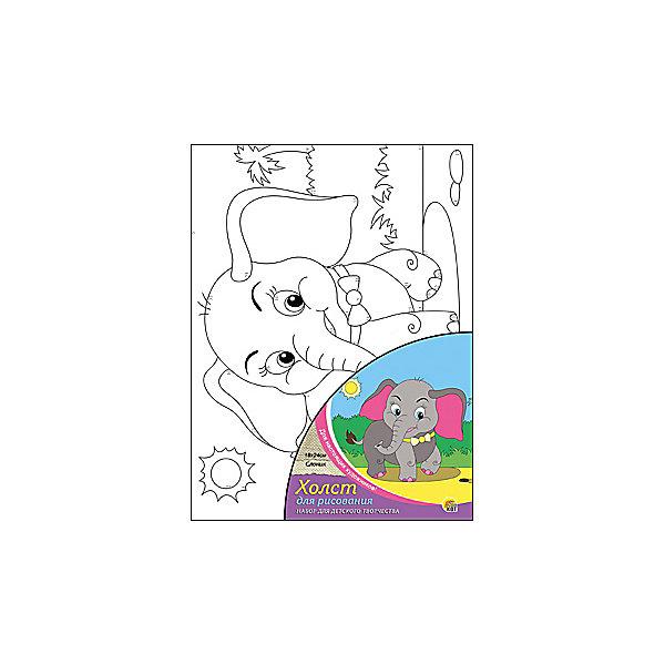 Холст с красками по номерам Слоник, 18х24 смКартины по номерам<br>Слоник - набор для детского творчества. Ребенку предстоит раскрасить холст с нанесенным эскизом по номерам. Прекрасно развивает аккуратность, внимание и усидчивость. Такой набор обязательно понравится начинающим художникам!<br><br>Дополнительная информация:<br>В наборе: холст-эскиз, 7 баночек с акриловой краской, кисточка<br>Размер: 18х1,5х24 см<br>Вес: 180 грамм<br>Вы можете приобрести набор Слоник в нашем интернет-магазине.<br>Ширина мм: 240; Глубина мм: 15; Высота мм: 180; Вес г: 180; Возраст от месяцев: 36; Возраст до месяцев: 120; Пол: Унисекс; Возраст: Детский; SKU: 4939517;
