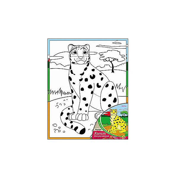 Холст с красками Леопард, 20х25 смКартины по номерам<br>Холст с красками Леопард - прекрасный подарок детям, которые любят рисовать. В наборе вы найдете всё, что нужно для детского творчества: холст с эскизом, яркие краски и кисточка. Готовую картинку можно подарить друзьям или украсить свою комнату!<br><br>Дополнительная информация:<br>В наборе: холст-эскиз, 7 акриловых красок, кисточка<br>Размер: 20х1,5х25 см<br>Вес: 210 грамм<br>Холст с красками Леопард можно купить в нашем интернет-магазине.<br>Ширина мм: 250; Глубина мм: 15; Высота мм: 200; Вес г: 210; Возраст от месяцев: 36; Возраст до месяцев: 120; Пол: Унисекс; Возраст: Детский; SKU: 4939520;