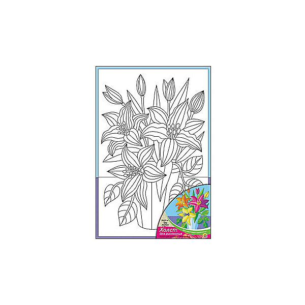 Купить Холст с красками Три лилии , 20х30 см, Рыжий кот, Китай, Унисекс