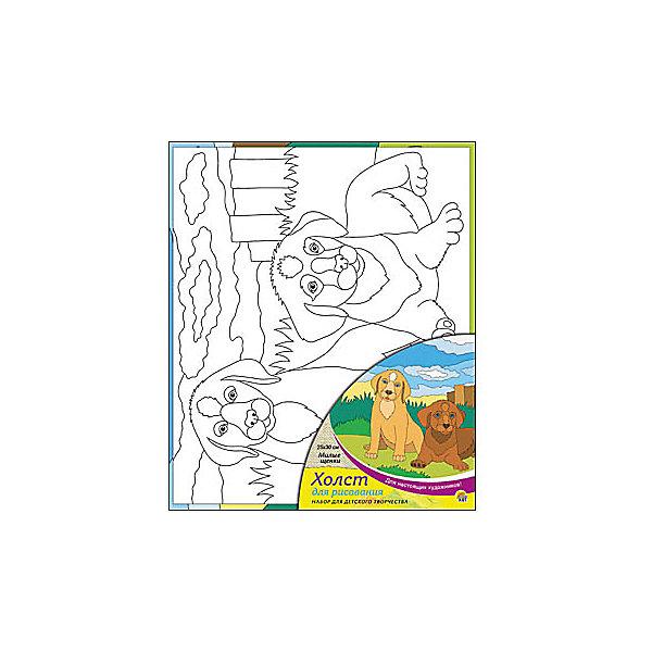 Холст с красками Милые щенки, 25х30 смКартины по номерам<br>Холст с красками Милые щенки поможет ребенку провести время с пользой и развить художественные навыки. Яркими красками он с удовольствием раскрасит эскиз на холсте и с гордостью сможет похвастаться родителям и друзьям!<br><br>Дополнительная информация:<br>В наборе: холст-эскиз, 7 акриловых красок, кисточка<br>Размер: 25х1,5х30 см<br>Вес: 250 грамм<br>Вы можете приобрести холст с красками Милые щенки в нашем интернет-магазине.<br>Ширина мм: 300; Глубина мм: 15; Высота мм: 250; Вес г: 250; Возраст от месяцев: 36; Возраст до месяцев: 120; Пол: Унисекс; Возраст: Детский; SKU: 4939541;