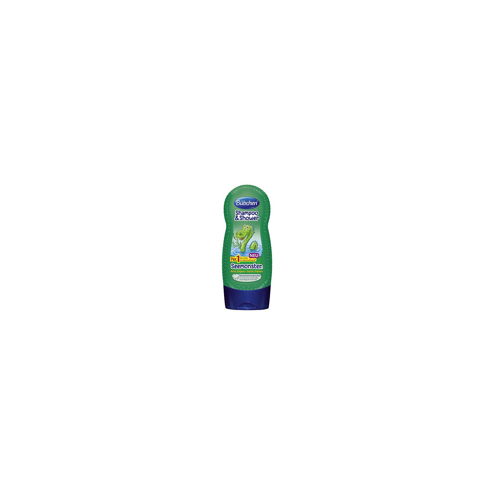 Шампунь для мытья волос и тела Зеленый монстр, BUBCHEN, 230 мл. (Bubchen)