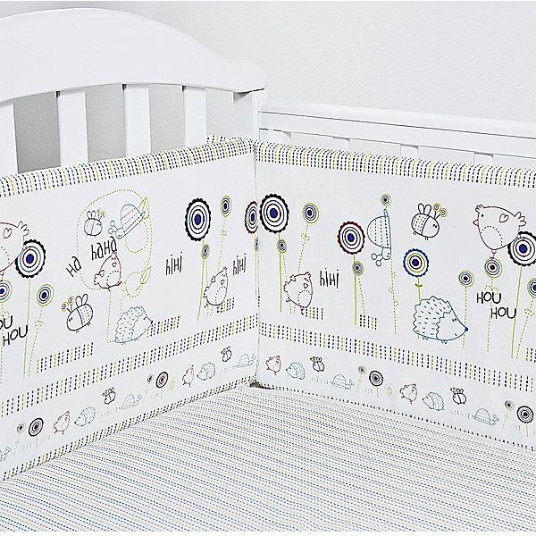 Бортик в кроватку Ежик, бязь, Baby NiceПостельное белье в кроватку новорождённого<br>Постельные принадлежности для детей должны быть качественными и безопасными. Этот бортик разработан специально для малышей. Бортик защитит ребенка от сквозняков и ударов при поворотах в кровати.<br>Чехол - из натурального дышащего хлопка, приятного на ощупь. Он не вызывает аллергии, что особенно важно для малышей. Наполнитель - экологически чистый нетканый материал для мягкой мебели периотек, легкий, упругий и обеспечивающий хорошую терморегуляцию. Бортик сделана из высококачественных материалов, безопасных для ребенка.<br><br>Дополнительная информация:<br><br>цвет: разноцветный;<br>материал: хлопок, периотек;<br>4 стороны: 120х32 - 2 шт., 60х35 - 2 шт.;<br>декорирован принтом.<br><br>Бортик  Ежик, бязь, от компании Baby Nice можно купить в нашем магазине.<br>Ширина мм: 600; Глубина мм: 1200; Высота мм: 200; Вес г: 700; Возраст от месяцев: 0; Возраст до месяцев: 36; Пол: Унисекс; Возраст: Детский; SKU: 4941785;