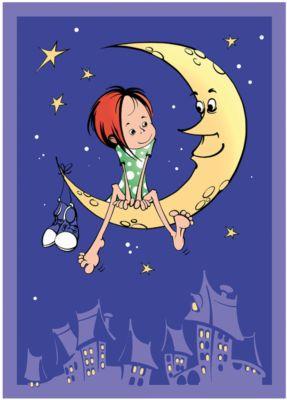 Плед-покрывало На луне VELSOFT,100% п/э,разм. 100х140,2-х стор., Baby Nice, артикул:4941810 - Детский текстиль