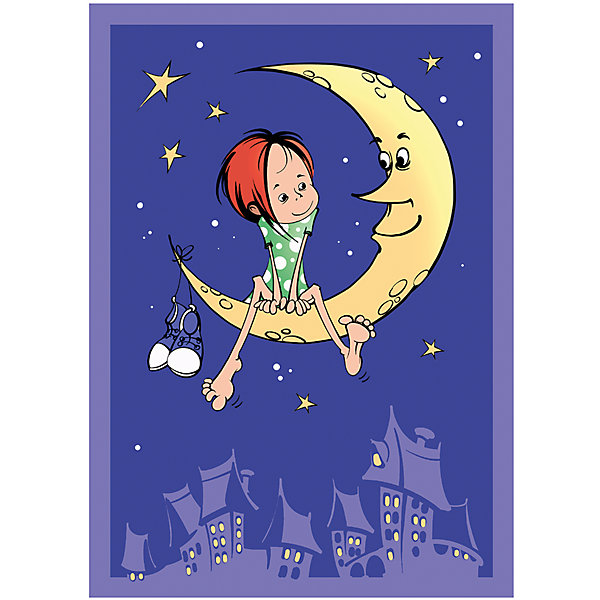 Baby Nice Плед-покрывало На луне VELSOFT,100% п/э,разм. 100х140,2-х стор., Baby Nice покрывало из велсофта лондон
