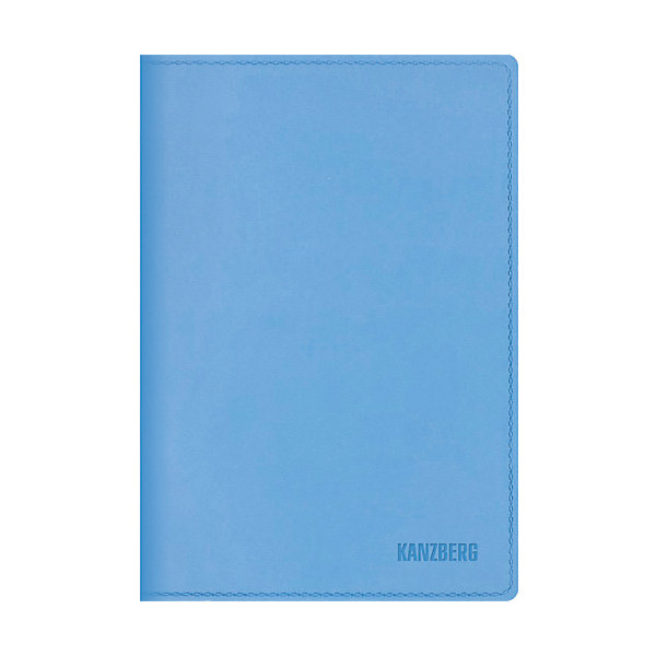 Канц-Эксмо Ежедневник голубой А6 KANZBERG, 152 л тетради канц эксмо темно красная а5 200листов тетради с пластиковой обложкой