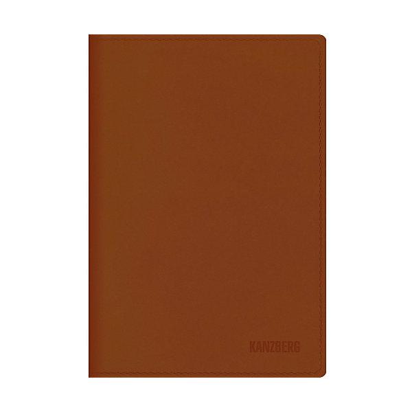 Канц-Эксмо Ежедневник коричневый А6 KANZBERG, 152 л