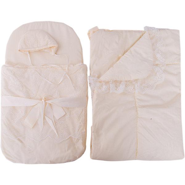 Фотография товара набор на выписку: конверт, одеяло,чепчик, Baby Nice, бежевый (4943416)
