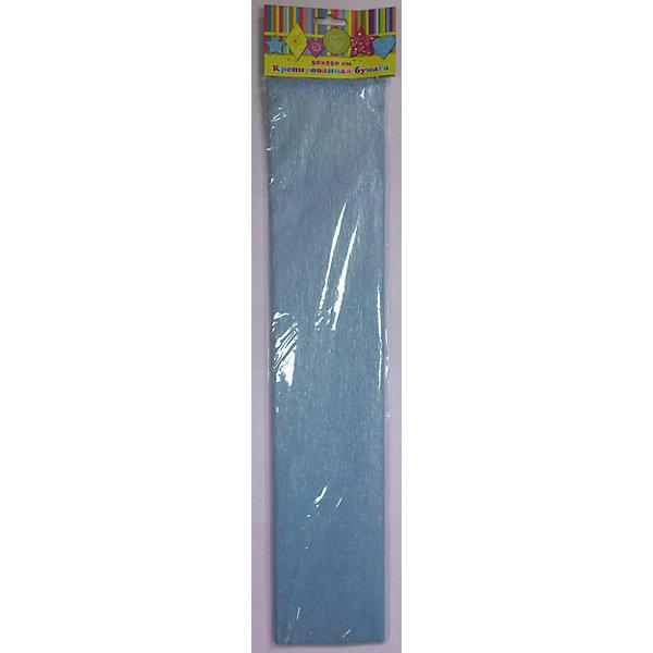 Феникс+ Бумага голубая перламутровая крепированная феникс бумага крепированная цвет фиолетовый 50 х 250 см