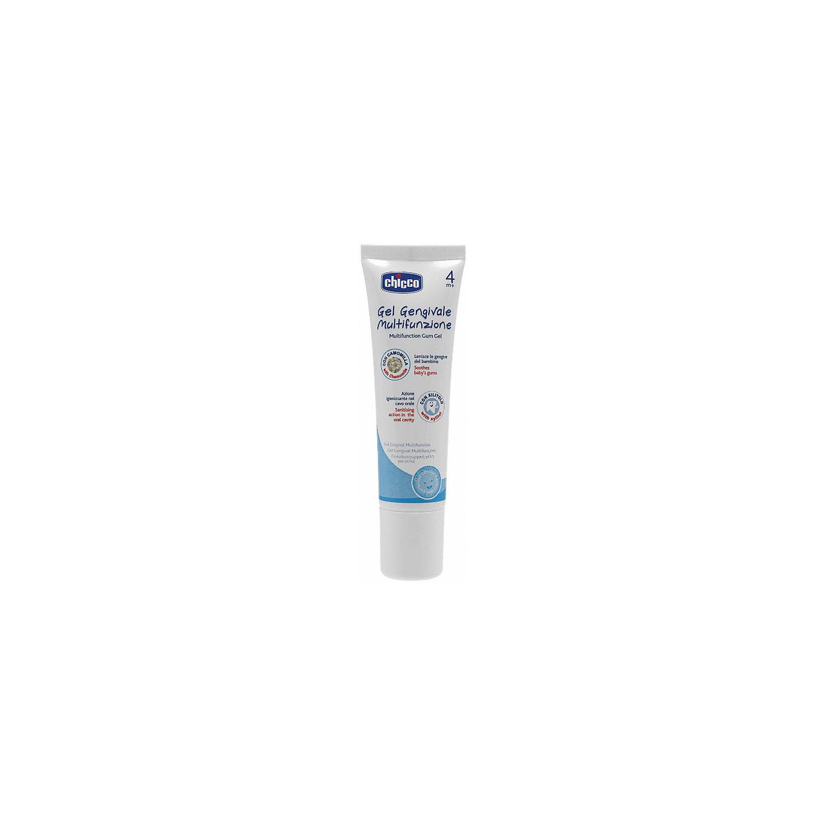 Гель для полости рта, антибактериальн., с ромашкой, 4мес.+, CHICCO, 30мл.