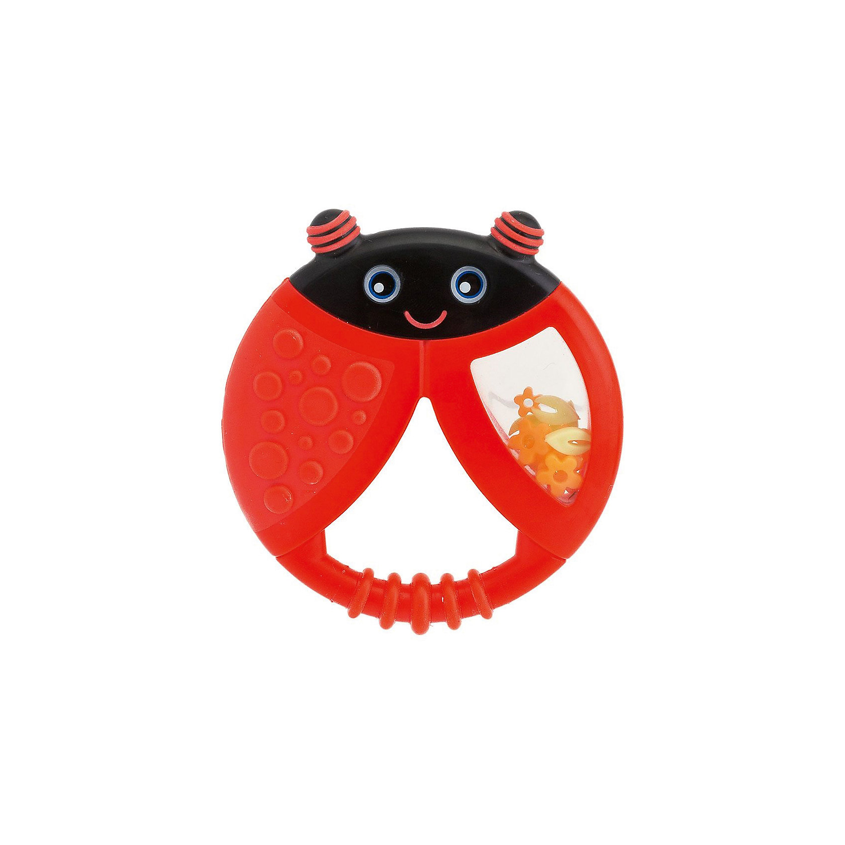 Прорезыватель-игрушка Funny Relax Божья Коровка, с погремушкой, 6мес.+, CHICCO