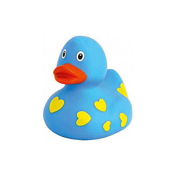 Уточка голубая в сердечках, Ути-ПутиИгрушки для ванной<br>Привлекательная уточка с необычной расцветкой станет прекрасным дополнением для купания или игр в воде. Игрушка изготовлена из качественных нетоксичных материалов и соответствует сертификату ТР ТС. Если нажать на уточку, то она издаст пищащий звук. Играть и купаться с такой уточкой будет очень весело и приятно!<br><br>Дополнительная информация:<br>Размер: 8,5 см<br>Вес: 50 грамм<br>Цвет: голубой<br>Голубую уточку в сердечках можно приобрести в нашем интернет-магазине.<br>Ширина мм: 85; Глубина мм: 85; Высота мм: 85; Вес г: 50; Возраст от месяцев: 36; Возраст до месяцев: 84; Пол: Унисекс; Возраст: Детский; SKU: 4945321;