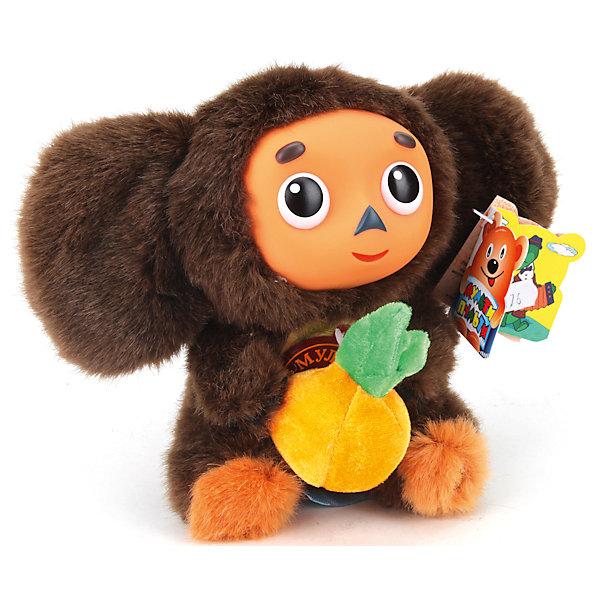 Купить Мягкая игрушка Мульти-Пульти Чебурашка с апельсином, озвученная, 17 см, Китай, Унисекс