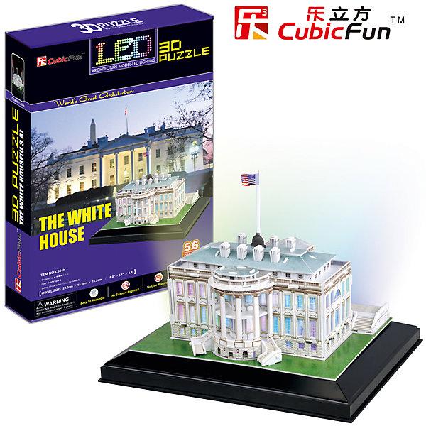 CubicFun Пазл 3D Белый дом с иллюминацией (США), CubicFun cubic fun mc101h кубик фан отель бурж эль араб оаэ