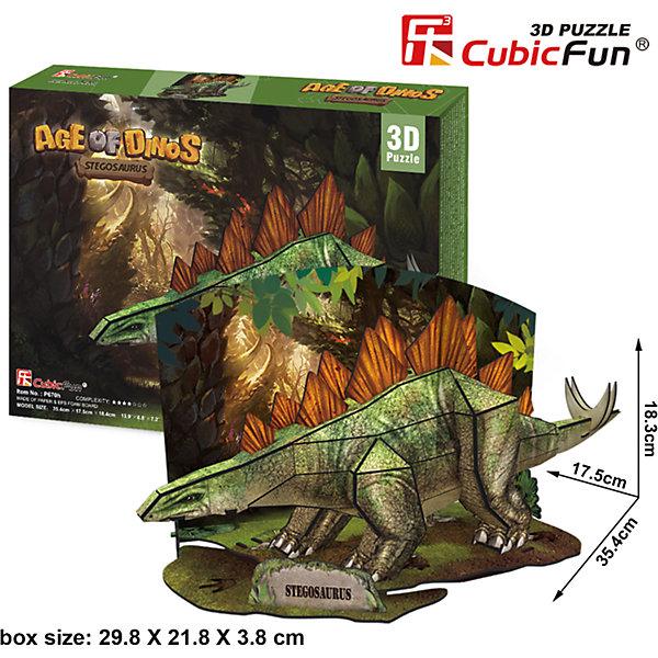 CubicFun Пазл 3D Эра Динозавров Стегозавр, CubicFun cubicfun пазл 3d собор святого павла великобритания cubicfun
