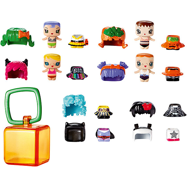 Mattel Набор из 4-х фигурок + 8 аксессуаров My Mini Mixie Q's «Хэллоуин»