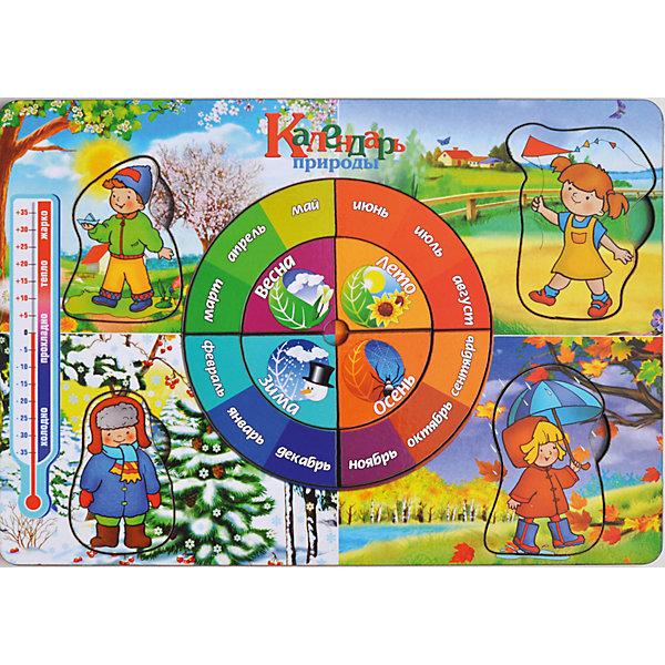 Купить Развивающая рамка-вкладыш «Календарь природы», Мастер игрушек, Китай, Унисекс